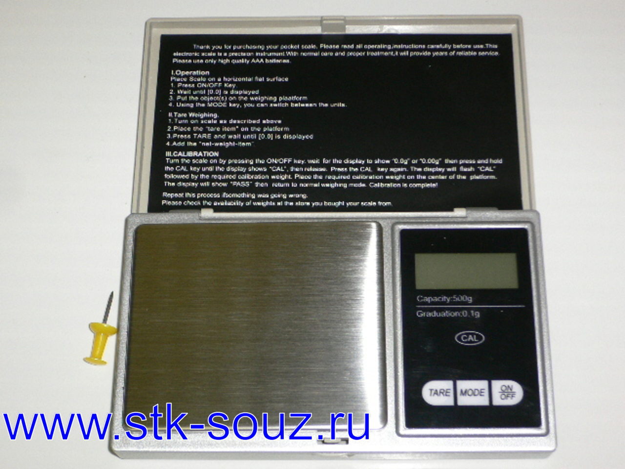 Весы электр. Pocket Scale Professional-Mini